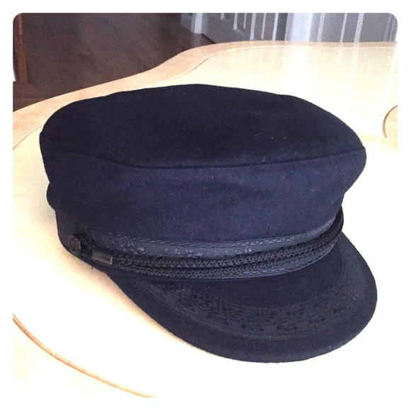 NWT Royal Navy French-Imported black hat